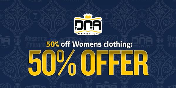 50% Womens Apparel