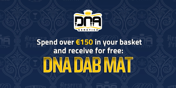 Spend over 150 euros on seeds and receive free DNA Genetics dab mat