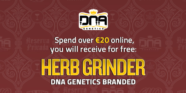 Purchase over 20 Euros of seeds and receive a free DNA Herb Grinder